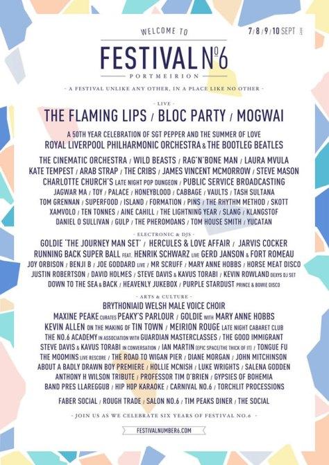 Festival No.6 Line Up