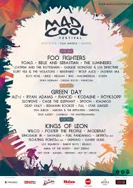 Mad Cool Line Up