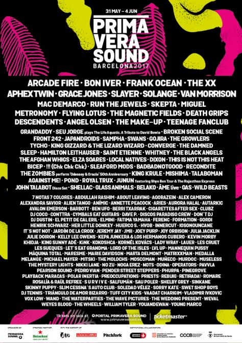 Primavera Sound Line Up