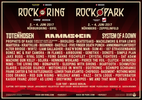 Rock am Ring Line Up