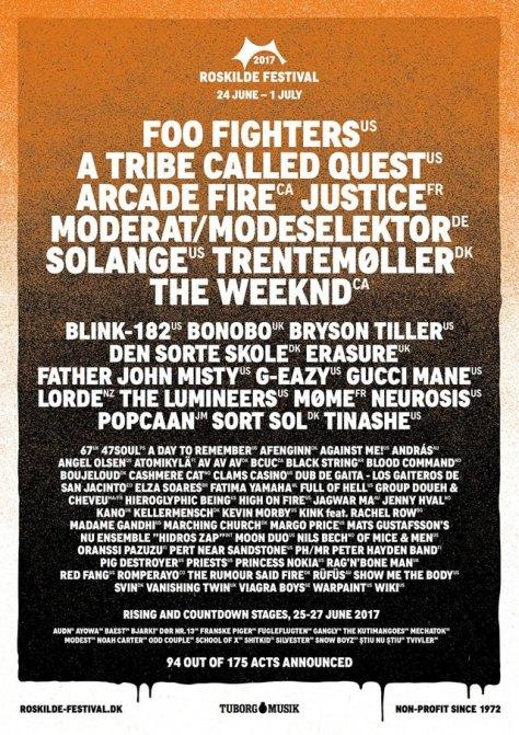 Roskilde Line Up