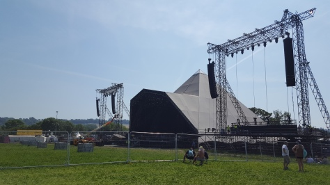 First view of Pyramid Stage